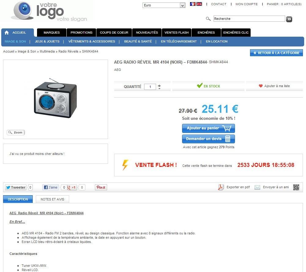 Cr er une boutique en ligne pour 890 ht tout compris - Sites de ventes en ligne ...