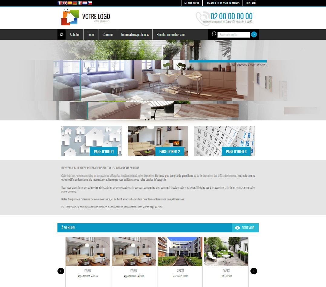 8522b878a1c ... internet pour une agence immobilière. creer site e commerce - charte  graphique adaptee a vos besoins et vos envies